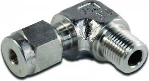 """M10MSEL1/2K-316 Parker A-LOK Metric Elbow Connector Tube O.D 10mm BSPT 1/2"""""""