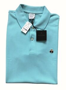 NWT BROOKS BROTHERS 1818 MENS M SLIM FIT PERFORMANCE GOLF POLO SHIRT TEAL BLUE