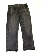 fb57b4ae639 Coogi Men s Embroidered Black Stonewashed Jeans Size 42x32