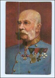 Y10261/ Kaiser Franz Josef mit Ehrenzeichen Ak 1908