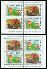 Romania 2006 Europa Cept Integration Mi.Bl.374 I+Ii Mnh Souvenir Sheets Set