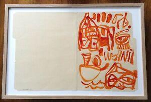 THOMAS CAMPBELL Original Gouache Drawing Signed Art