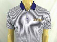 NIKE DRI FIT Golf Polo Mens M Daphne, AL High School SS Purple White Striped