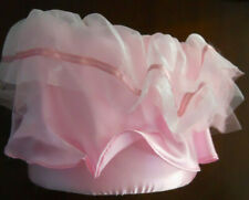 Ruffled Pink Ballerina Gift Basket Round Treat Bag Candy/Goodie Pail Halloween
