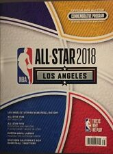 2018 NBA ALL STAR GAME PROGRAM LOS ANGELES CURRY LEBRON  2/18 IN STOCK BONUS