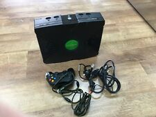 original xbox console with 1 controller and all lead