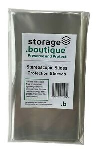 storage.boutique Stereoscopic Slide Stereoview Sleeves, Acid Free (180 x 95 mm)