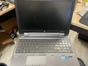 HP Elitebook 8560w i5-2540M 2.6Ghz 8GB RAM SSD 10 Pro NO POWER CORD