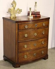 Rare Antique Empire bow front small chest of drawers Scandinavian 1820 bedside