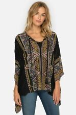 JOHNNY WAS Beaded Color Gables Poncho Embroiderd Blue OVRSZE  S M L XL MSRP $335