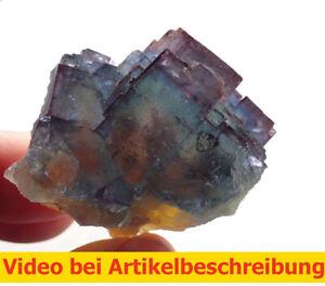 8215 Regenbogenfluorit Rainbowfluorite ca 4*5*5 cm Frohnau Deutschland MOVIE
