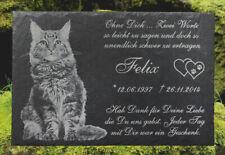 Grabstein Gedenktafel Grabplatte Urne Tiergrabstein Gedenkplatte MotivTZ 20x15cm