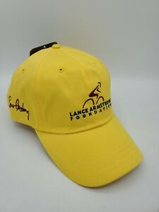 Nike Lance Armstrong Foundation Yellow Strapback Hat Cap Unused with Tag