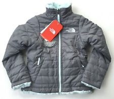 NEW NORTH FACE GIRLS REVERSIBLE MOSSBUD SWIRL JACKET SOFT FLEECE GREY BLUE XS 6