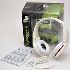 NEW Pioneer SE-MJ721I-W Steez Effects On-Ear Stereo Headphones WHITE In-Line Mic