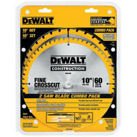 DEWALT 2 Pc 10 in. Series 20 Circular Saw Blade Combo Pack DW3106P5 New