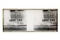 Francia Château Foto Amateur Stereo L14n29 Placca Da Lente Vintage Negativo