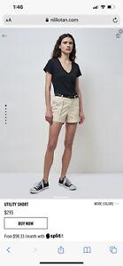 Nili lotan utility twill shorts