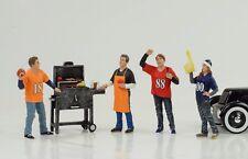 Hayon Grill Party Figurine Set de 4 Pièces 1:18 American Diorama N° Car