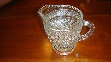 "Vint. Pressed Glass Sm. Cream Pitcher W/wonderful Detailed Designs - 41/2"" Tall"