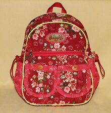 Rare Oilily Red Floral Corduroy Backpack from The Future is Shiny Collection EUC