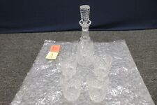 Waterford Crystal Liquor Decanter Whisky Wiskey Whiskey Rocks Tumbler Glass Set
