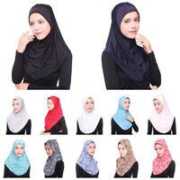 Women's Under Scarf Hat Cap Bonnet Ninja Hijab Islamic Neck Cover Muslim Hi HI