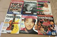 Lot of 6 Country America Magazine 1996 Garth Brooks,Dolly Parton,& More F/S
