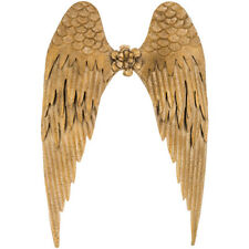 """Vintage Style Large 26"""" Gold Angel Wings Spiritual Metal Wall Decor"""