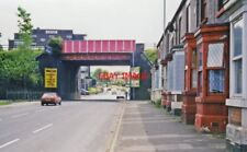 PHOTO  1998 DARNALL SHEFFIELD: APPROACHING MAIN LINE BRIDGE NEAR RAILWAY STATION