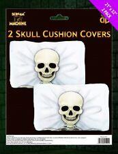 Scream Machine 2pk Plastic Skull Cushion Covers 80x54cm Halloween