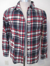 NWT Jachs Mfg Co LS Flannel Shirt Ladies Size Small Red/Cream/Navy Plaid