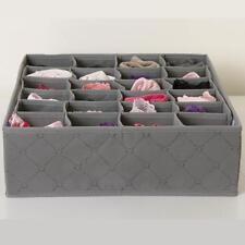 30 Grids Organizer Storage Box Bra Socks Underwear Drawer Cosmetic Divider_Tool