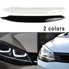 2x Headlight Eyelids For 2006-2009 VW Golf GTI Jetta R32 Rabbit Mk5 Black/White