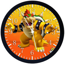 Super Mario Bowser Black Frame Wall Clock Nice For Decor or Gifts Z151