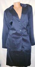 Lafayette 148 Plus Size 24 Two Piece Business Suit Pin Stripe Navy Blue Lined
