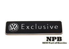 Volkswagen Exclusive Edition  Logo Badge Emblem Genuine accessories