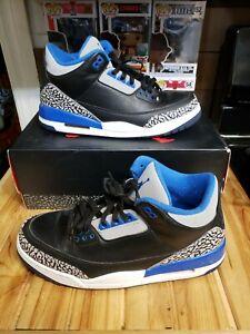 Jordan 3 Retro Sport Blue Size 10.5 136064-007 Factory Box