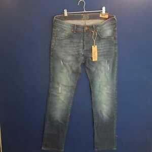 MODALEO 501 Mens  Fit Stretch Denim jeans Basic 5 Pocket W34 L31 BLUE