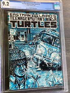 Teenage Mutant Ninja Turtles #3 CGC 9.2 oww Signed By Eastman & Laird