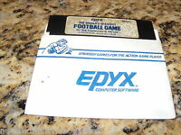 The World's Greatest Football  (Commodore 64, 1985) C64 5.25 Inch Floppy Disk