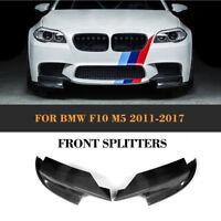 Carbon Fiber Front Bumper Spoiler Splitter Lip Bodykit Fit for BMW F10 M5 11-17