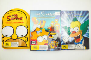 The Simpsons Complete Collectors Edition Box Sets 8th + 11th Sealed + 6th Homer