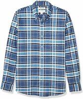 Goodthreads Mens Oxford Button Up Shirt Denim Blue Plaid Size Large Slim Fit NWT