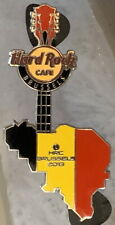 Hard Rock Cafe BRUSSELS 2013 Pinalux Puzzle Map Guitar PIN - LE 200 - HRC #75224