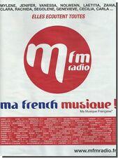 Publicité Advertising 2010 - m FM radio  (Advertising paper)