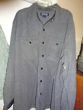 STRUCTURE Mens Snap Front Size XL Gray Jacket or Shirt Long Sleeve Polyester