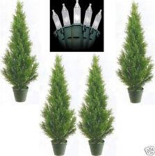 4 CEDAR OUTDOOR 3' TOPIARY UV TREE ARTIFICIAL CYPRESS 6 5 PINE CHRISTMAS LIGHTS