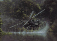 """Deliverance"" Dru Blair Signed Print - AH-64 Apache Attack Helicopter"