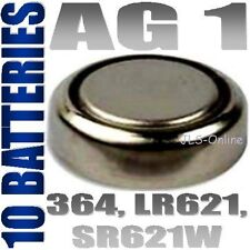 10 X Alkaline 1.5v Button Cell Batteries Ag1 364 Lr621